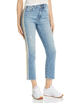 Pistola - Monroe Side-Stripe Cropped Cigarette Jeans in Light Wash
