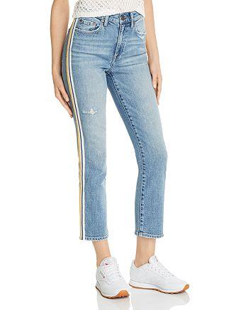 Pistola - Monroe Side-Stripe Cropped Cigarette Jeans in Light Wash