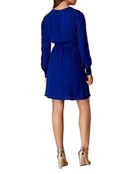 KAREN MILLEN - Pintuck Faux-Wrap Dress