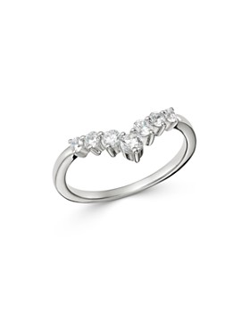 Bloomingdale's - Diamond Chevron Ring in 14K White Gold, 0.50 ct. t.w. - 100% Exclusive
