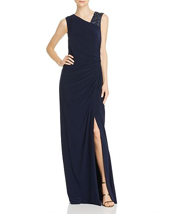 Adrianna Papell - Draped Jersey Gown