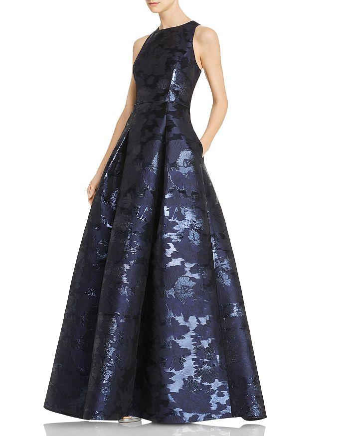 Aidan Mattox - Sleeveless Jacquard Gown