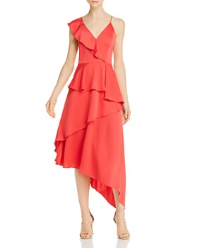 Aidan by Aidan Mattox - Charmeuse Asymmetric Dress