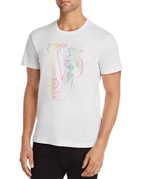 02526370 Versace Jeans - Rainbow-Logo Graphic Jersey Tee