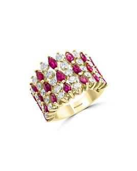 Bloomingdale's - Ruby & Diamond Statement Band in 14K Yellow Gold - 100% Exclusive