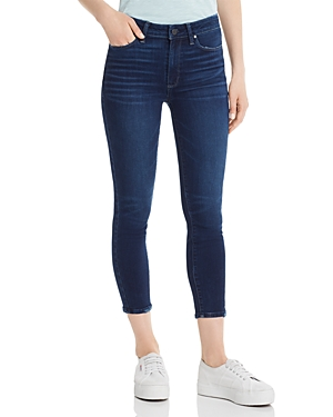 Paige Jeans HIGH-RISE SLIM CROP JEANS IN HIBISCUS DISTRESSED