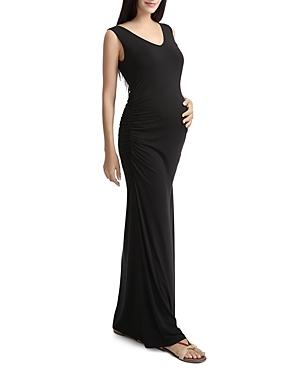 Kimi & Kai Jane Sleeveless Lace-Back Maxi Maternity Dress