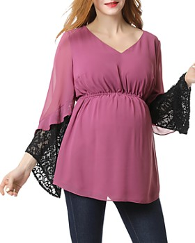 Kimi & Kai - Nisa Lace-Trim Maternity Top