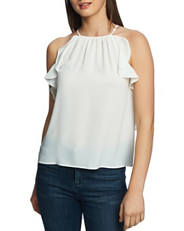 1.STATE - Sleeveless Ruffle-Trim Top