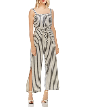 Vince Camuto Suits STRIPED WIDE-LEG JUMPSUIT