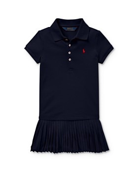 Ralph Lauren - Girls' Pleated Drop-Waist Polo Dress - Little Kid