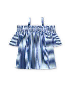 Ralph Lauren - Girls' Striped Off-the-Shoulder Top - Little Kid