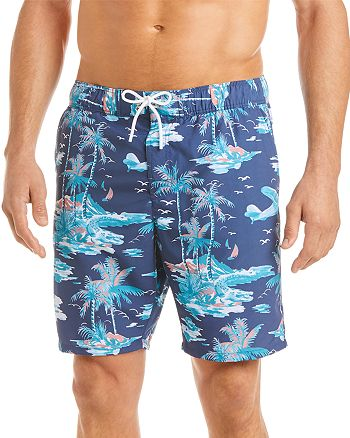 Lacoste - Island-Print Swim Trunks