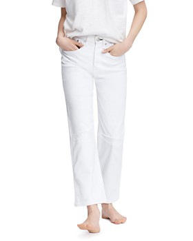rag & bone - Maya High-Rise Ankle Straight-Leg Jeans in Worn Vintage White