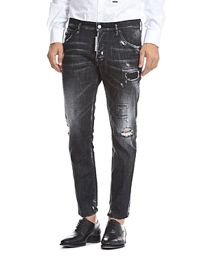 DSQUARED2 Skater Skinny Fit Jeans in Black