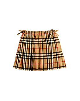 Burberry - Girls' Pearly Vintage Check Pleated Skirt - Little Kid, Big Kid
