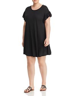 Elan Plus - Ruffle-Sleeve T-Shirt Dress