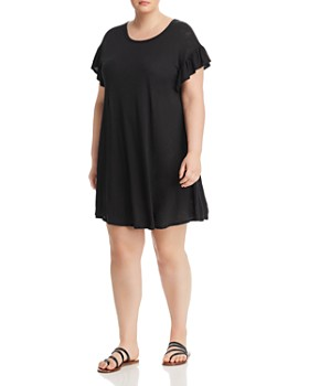 Elan Plus - Ruffle-Sleeve T-Shirt Dress