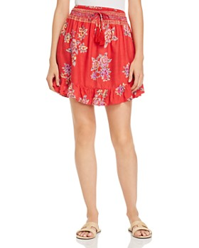 Tiare Hawaii - Lily Rose Floral-Print Mini Skirt