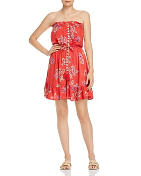 Tiare Hawaii - Ryden Strapless Floral Mini Dress