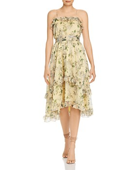 Keepsake - Luscious Ruffled Floral Midi Dress