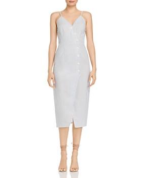 The Fifth Label - Savannah Striped Button-Down Midi Dress