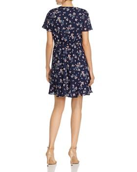 02f4ea4a ... AQUA - Button Detail Flounced Floral Dress - 100% Exclusive