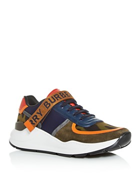 Burberry - Men's Ronnie Mixed Media Low-Top Sneakers