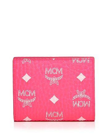 MCM - Neon Visetos Flap Wallet