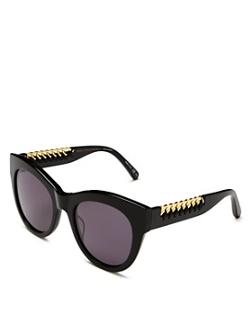 7f0fcd80c4 Stella McCartney - Women s Faux Leather-Trim Cat Eye Sunglasses