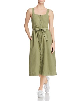 AG - Britta Belted Midi Dress