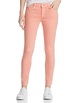 AG - Ankle Legging Jeans in Hi White Peach Quartz