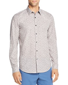 Theory - Irving Leaf-Print Regular Fit Shirt