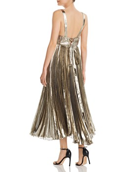 Maria Lucia Hohan - Nayla Pleated Metallic Midi Dress