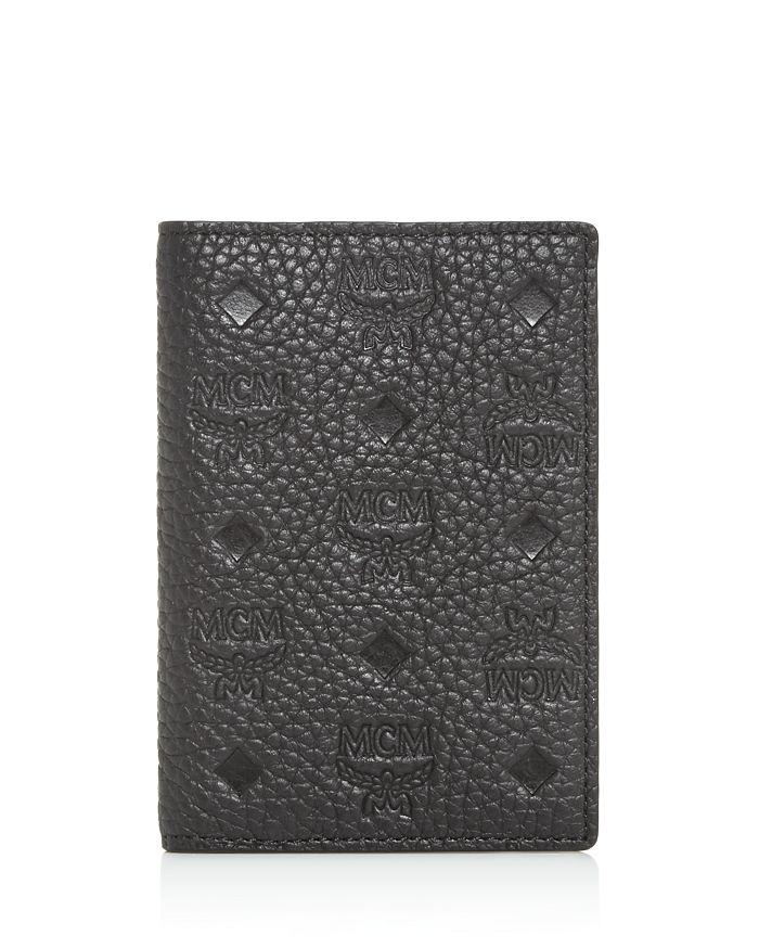 MCM - Max Embossed Leather Mini Card Case