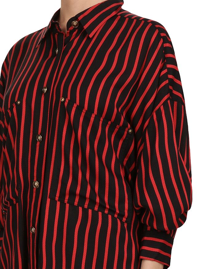 5116d038b15 The Kooples Striped Puff-Sleeve Button-Down Shirt | Bloomingdale's
