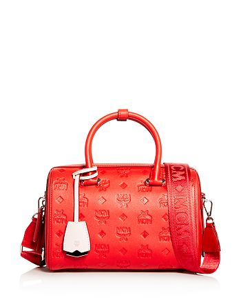 MCM - Essential Embossed Leather Boston 23 Satchel