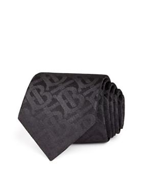 Burberry - Manston Tonal-Monogram Silk Skinny Tie