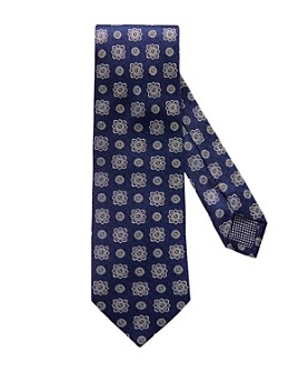 Eton - Textured Medallion Silk Classic Tie