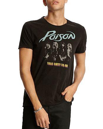 John Varvatos Star USA - Raw-Edge Vintage Poison Graphic Tee