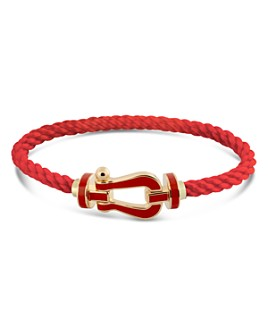 Fred - 18K Yellow Gold Force 10 Red Large Buckle & Cable Options