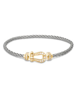 Fred - 18K Yellow Gold Force 10 Diamond Medium Buckle & Cable Options