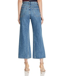 3x1 - Aimee High-Rise Cropped Wide-Leg Jeans in Leni