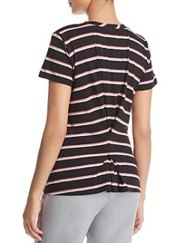 Kenneth Cole - Striped Gathered-Back Tee