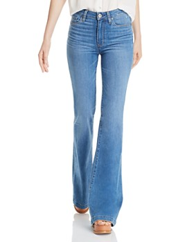PAIGE - Genevieve Flare Jeans in North Star Distressed