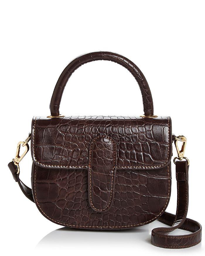 AQUA - Croc-Embossed Mini Bag - 100% Exclusive