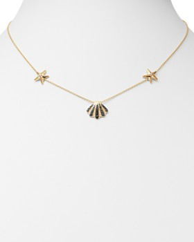 """Bloomingdale's - Black, Brown & White Diamond Sea-Inspired Necklace in 14K Yellow Gold, 17"""" - 100% Exclusive"""
