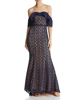 Jarlo - Jillian Popover Lace Mermaid Gown - 100% Exclusive