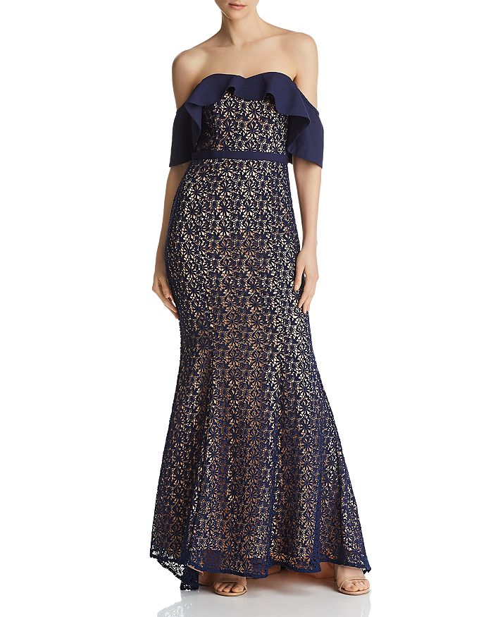 Jarlo - Jillian Popover Lace Mermaid Gown - 100% Exclusive