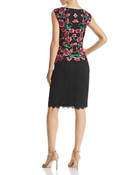 Tadashi Shoji - Floral-Embroidered Lace Sheath Dress